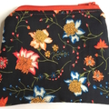 BUSHFIRE Liberty print black orange yellow and red denim coin purse