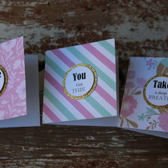 3 Inspirational Cards Take a Deep Breath You Got This! Whine with me BFF Cards