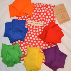 Classroom Set of 30 Bean Bags - primary and secondary colours