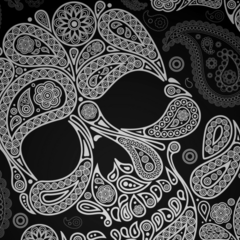 Paisley Skull Envelopes