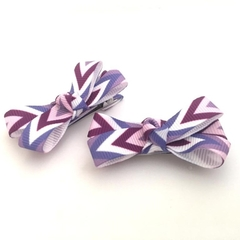 Baby Bow Set, Infant Hair Clips, Clips for Toddlers, Mini Hair Clips - Lavender