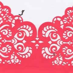 10 x Dark Pink Invitation Pockets