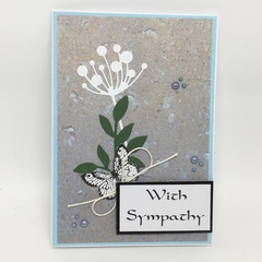 Sympathy Card - Chloe stem, Leaves and butterfly