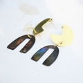 Brass & Saucepan lid metal Earrings