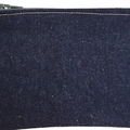 BUSHFIRES Brown blue and white lined denim purse