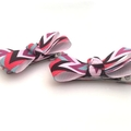 Baby Bow Set, Infant Hair Clips, Clips for Toddlers, Mini Hair Clips - Red Black