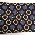 BUSHFIRE Geometric star burst purple white red and green print denim coin purse