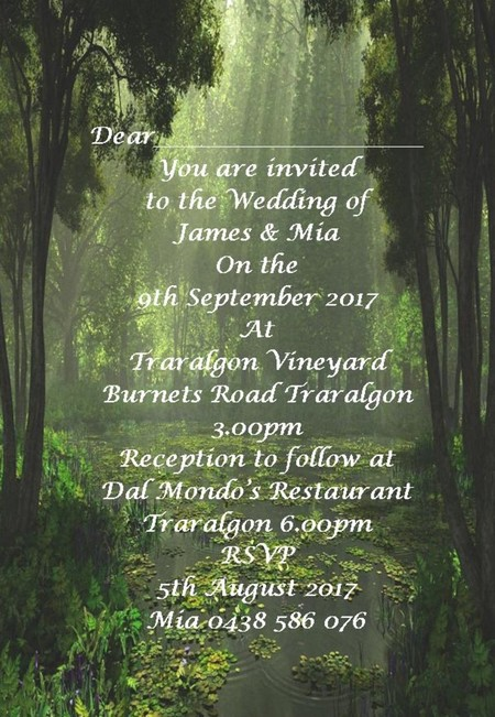 Nature Themed print at home invitations