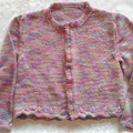 Girls' Lacy-Edged Cardigan