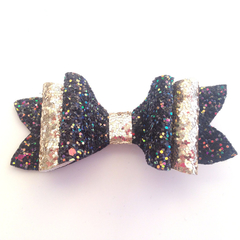 Glitter Bow, Princess Hair Bow, Bows for Girls, Fabric Bow, Gifts for Girls