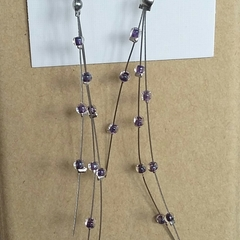 PURPLE METEORS Earrings