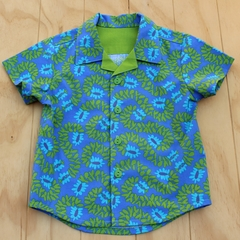 Boy's Button up Shirt - Divine Blue - Size 3