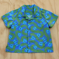 Boy's Button up Shirt - Divine Blue - Size 2