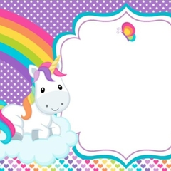 10 x Baby Unicorn Printed Envelopes