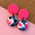 Blue Pink Party Earrings