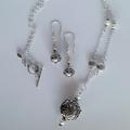 Long dangle Bali boho silver earrings