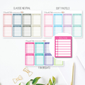 Meal Plan Tracker Planner Stickers for Erin Condren Planner - LGE003
