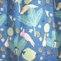 dress - teal Australian cockatoo galah / cotton boho peasant-style / 2-3 years