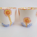 Hand Made, Japanese Style, Tea Cups - set of two