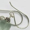 Sea green fluorite & sterling silver boho dangle earrings