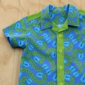 Boy's Button up Shirt - Divine Blue - Size 4