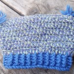child's crocheted pixie hat made from pure wool