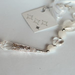Wedding charm, alternative to horseshoe. White/silver sun catcher.