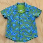Boy's Button up Shirt - Divine Blue - Size 3