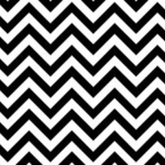 10 x Black and White Chevron Envelopes