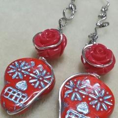 SUGAR SKULLS ROSE Earrings