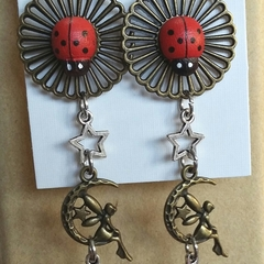 FAIRY MOON LADY BIRDS Earrings