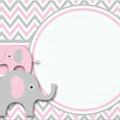 10 x Pink Elephant Envelopes