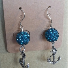 BLUE ANCHORS Earrings