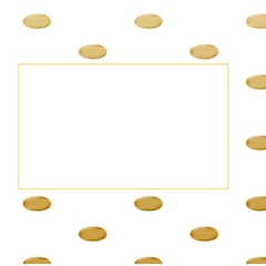 10 x Gold Polka Dot Envelopes