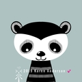 Dog, rabbit & raccoon black & white cuties Digital Download