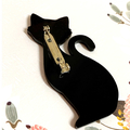 Black Cat Acrylic Brooch