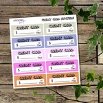 Credit Card Bill Diary Planner Reminder Stickers/Labels/Adhesives
