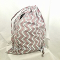 Drawstring Bag : CHEVRON - Pink