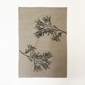 Hand screen printed 'Blackwood' - 100% linen tea towel