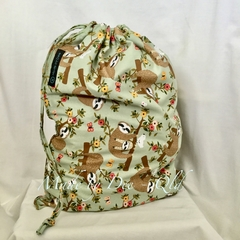 Drawstring Bag : SLOTH Flowers