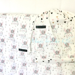 Kindy Sheet Set 'BOHO BUNNY'