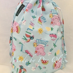 Drawstring Bag : PEPPA PIG HOLIDAY