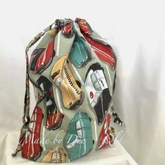 Drawstring Bag : CARS - Khaki
