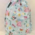 Drawstring Bag : PEPPA PIG HOLIDAY