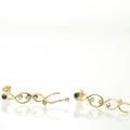 18ct Gold Tanzanite and Diamond  Earrings Bridal Jewellery