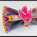 Hot Pink Love Bird Hair Bow comes as a beautiful hair tie