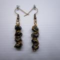 Drop wire wrap earrings