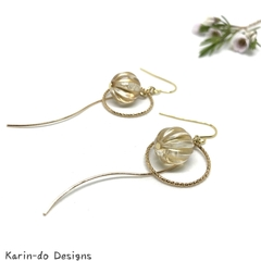 Drop earrings with hoop and bead