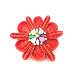 Flower Brooch, Kanzashi Pin, Fabric Brooch, Brooch Pin, Scarf Pin, Flower Pin