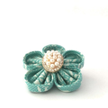 Pearl Brooch, Brooch Pin, Flower Brooch, Formal Pin, Fabric Brooch, Flower Pin